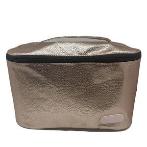 Caboodles Pink Metallic Cosmetic Case Bag